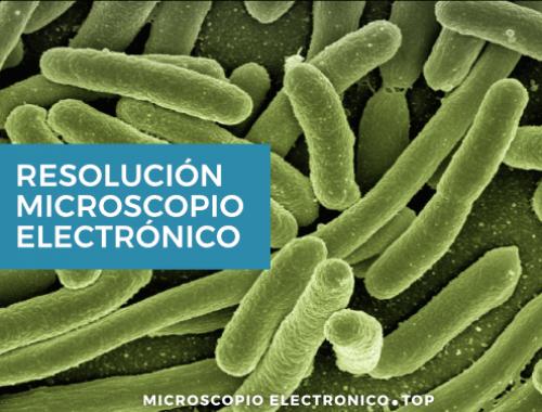 Resolución microscopio electrónico